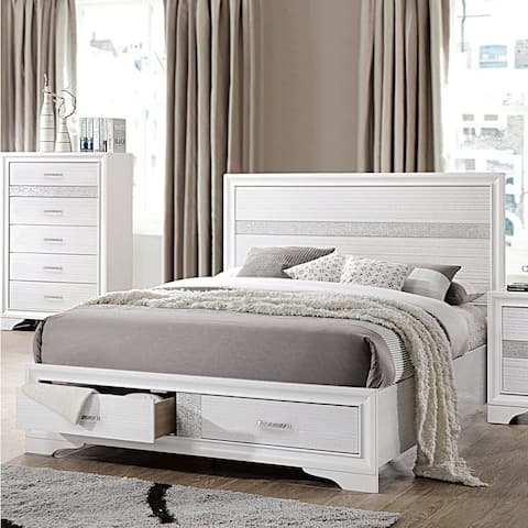 Silver Orchid May Contemporary Storage Bed