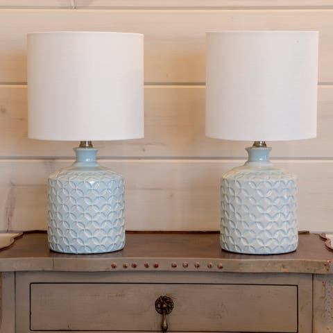 Set of 2 Della Ceramic LED Table Lamps