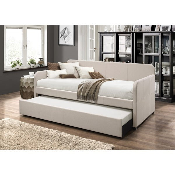 Porch & Den Anthony Upholstered Daybed with Trundle. Opens flyout.