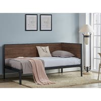Harvey Industrial Weathered Chestnut and Black Daybed