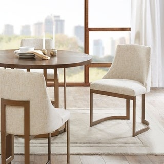 "Madison Park Robertson Cream Dining Chair (Set of 2) - 21""W x 22""D x 33.5""H (2)"