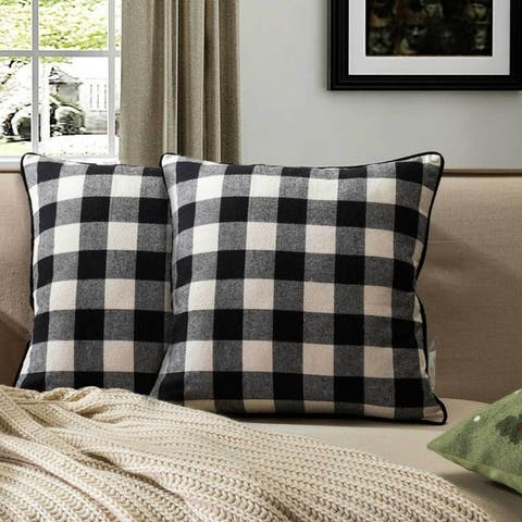 Buffalo Check Plaid Throw Pillow(Set of 2)