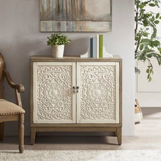 Madison Park Niles Reclaimed Walnut/ Antique Cream Accent Chest