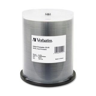 Verbatim CD-R 700MB 52X White Inkjet Printable, Hub Printable - 100pk