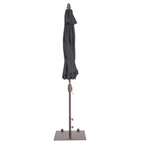 Havenside Home Alpine 78-lb Square Wheeled Umbrella Base with 2 Separate Poles