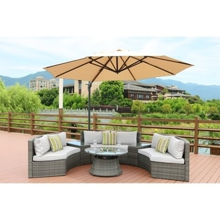 Half Moon 6-piece Outdoor Sofa Set with Table By Direct Wicker