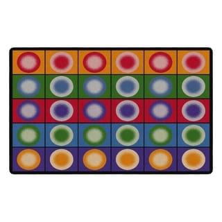 "Flagship Carpet Kids Nylon Dot Spots Classroom Seating Rug, Seats 30 - 7'6"" x 12' - 7'6"" x 12'"