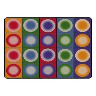 "Flagship Carpet Kids Nylon Dot Spots Classroom Seating Rug, Seats 20 - 5'10"" x 8'4"" - 5'10"" x 8'4"""