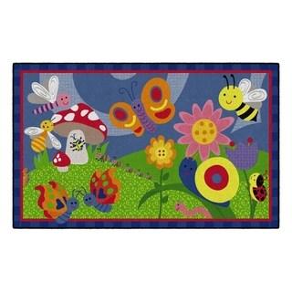 Flagship Carpet Kids Nylon Cutie Bugs Classroom Seating Rug - 5' x 8' - 5' x 8'