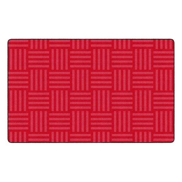 "Flagship Carpet Kids Nylon Cherry Hashtag Tone On Tone Classroom Seating Rug, Seats 30 - 7'6"" x 12' - 7'6"" x 12'"