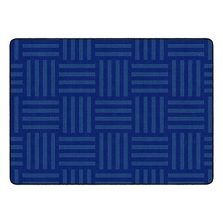 "Flagship Carpet Kids Nylon Blue Hashtag Tone On Tone Classroom Seating Rug, Seats 24 - 6' x 8'4"" - 6' x 8'4"""