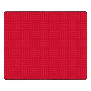 "Flagship Carpet Kids Nylon Cherry Hashtag Tone On Tone Classroom Seating Rug, Seats 35 - 10'9"" x 13'2"" - 10'9"" x 13'2"""
