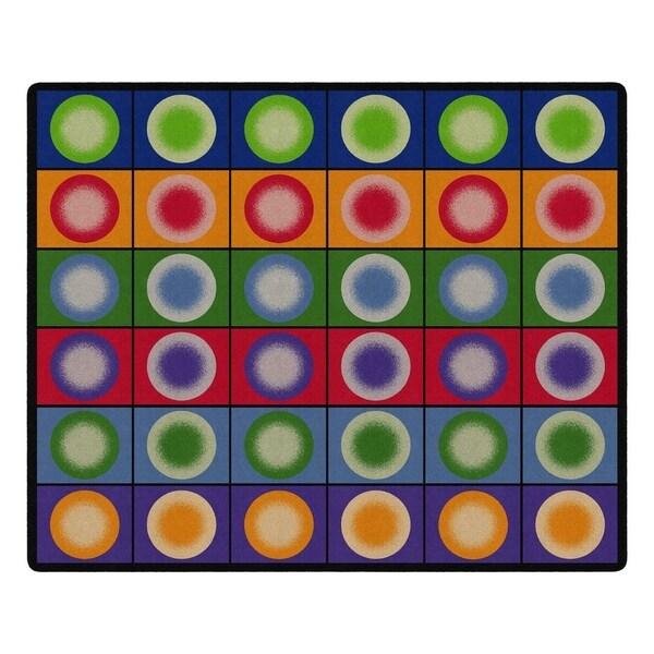 "Flagship Carpet Kids Nylon Dot Spots Classroom Seating Rug, Seats 35 - 10'9"" x 13'2"" - 10'9"" x 13'2"""