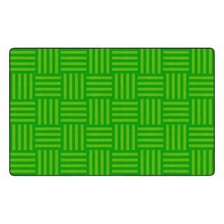 "Flagship Carpet Kids Nylon Lime Hashtag Tone On Tone Classroom Seating Rug, Seats 30 - 7'6"" x 12' - 7'6"" x 12'"