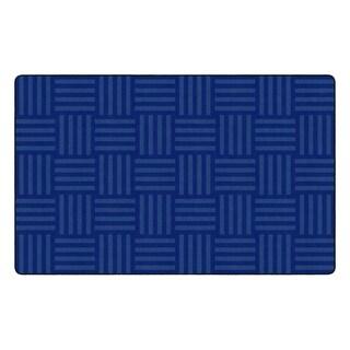 "Flagship Carpet Kids Nylon Blue Hashtag Tone On Tone Classroom Seating Rug, Seats 30 - 7'6"" x 12' - 7'6"" x 12'"