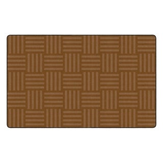 "Flagship Carpet Kids Nylon Chocolate Hashtag Tone On Tone Classroom Seating Rug, Seats 30 - 7'6"" x 12' - 7'6"" x 12'"