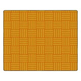 "Flagship Carpet Kids Nylon Orange Hashtag Tone On Tone Classroom Seating Rug, Seats 35 - 10'9"" x 13'2"" - 10'9"" x 13'2"""