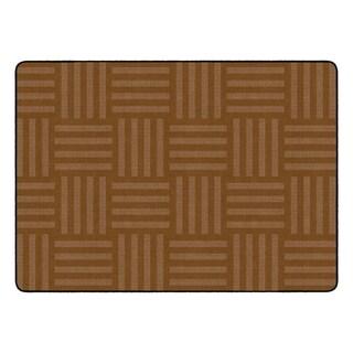 "Flagship Carpet Kids Nylon Chocolate Hashtag Tone On Tone Classroom Seating Rug, Seats 24 - 6' x 8'4"" - 6' x 8'4"""