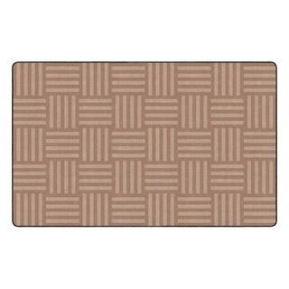 "Flagship Carpet Kids Nylon Almond Hashtag Tone On Tone Classroom Seating Rug, Seats 30 - 7'6"" x 12' - 7'6"" x 12'"