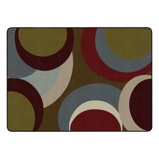 Flagship Carpet Kids Nylon Highstyle Classroom Seating Rug - 6' x 9' - 6' x 9'
