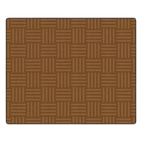 "Flagship Carpet Kids Nylon Chocolate Hashtag Tone On Tone Classroom Seating Rug, Seats 35 - 10'9"" x 13'2"" - 10'9"" x 13'2"""