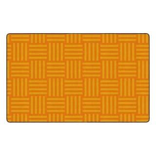 "Flagship Carpet Kids Nylon Orange Hashtag Tone On Tone Classroom Seating Rug, Seats 30 - 7'6"" x 12' - 7'6"" x 12'"