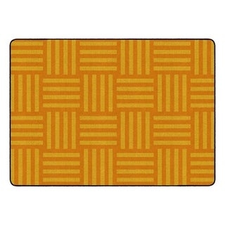 "Flagship Carpet Kids Nylon Orange Hashtag Tone On Tone Classroom Seating Rug, Seats 24 - 6' x 8'4"" - 6' x 8'4"""