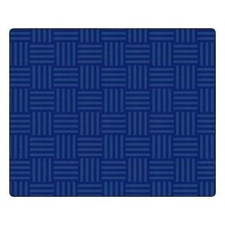 "Flagship Carpet Kids Nylon Blue Hashtag Tone On Tone Classroom Seating Rug, Seats 35 - 10'9"" x 13'2"" - 10'9"" x 13'2"""