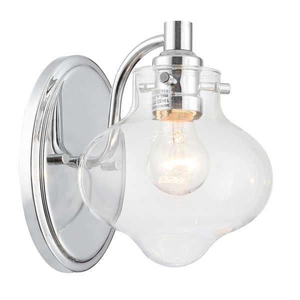 Industrial Wall Light Chrome: Shop Industrial 1-light Polished Chrome Wall Sconce