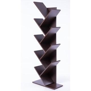 Carbon Loft Drake Wooden 9-shelf Tree Magazine CD Storage Bookcase