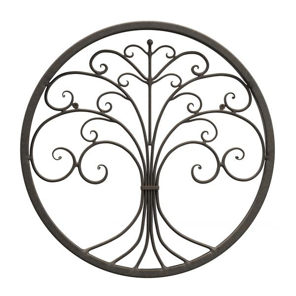 Shop Copper Grove Tree Of Life Brown Iron Wall Decor On