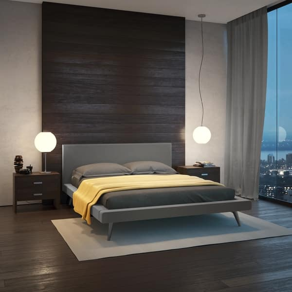 Amisco Revelation Upholstered Bed Overstock Com Shopping The Best Deals On Beds 32700519