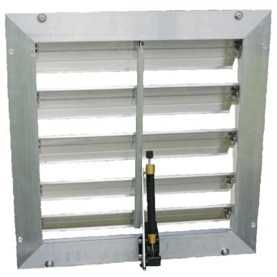 """RSI 18"""" Louver Wall Mounted Window with Solar Powered Opener"""