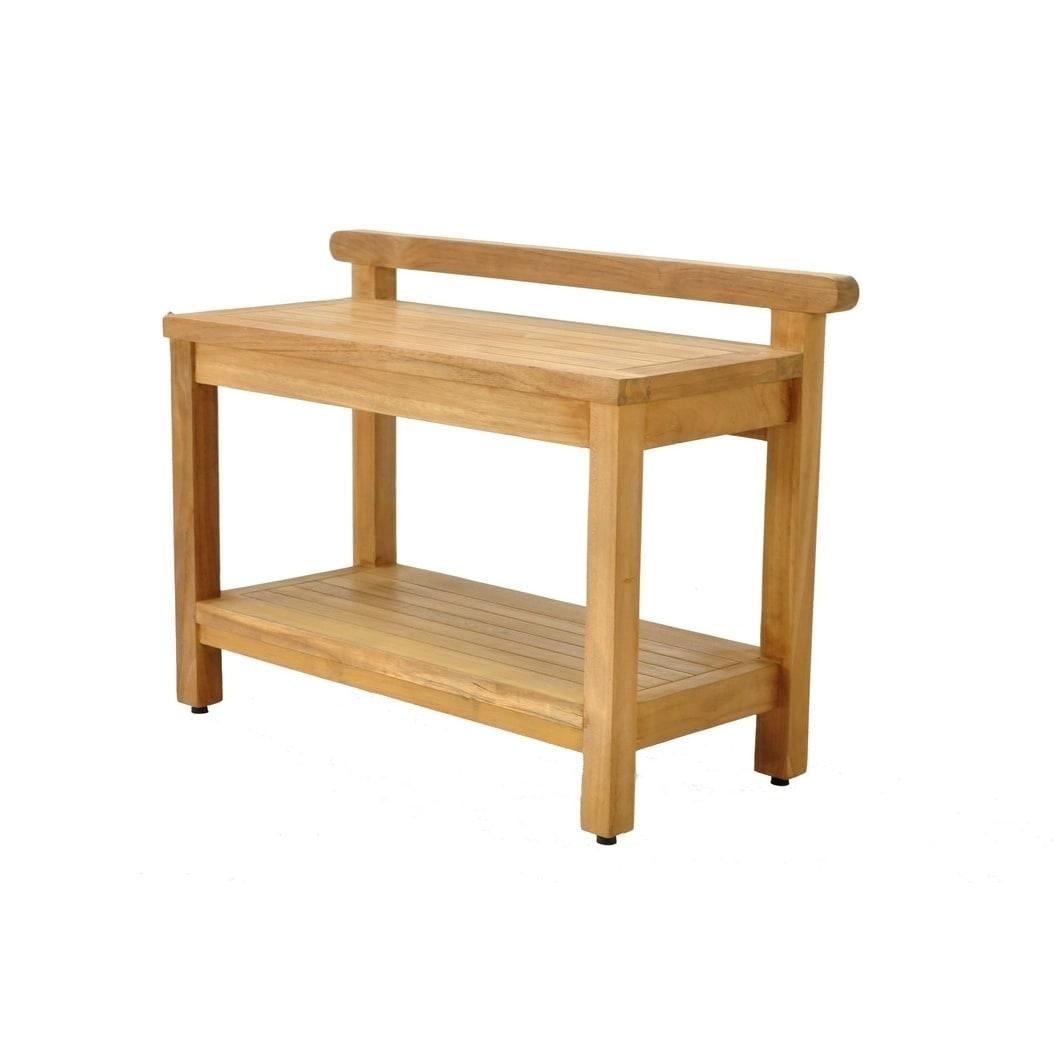 Super Napali Natural Finish Teak Wood Bench Medium Ibusinesslaw Wood Chair Design Ideas Ibusinesslaworg