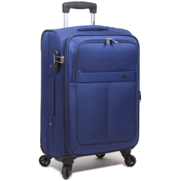 Dejuno Tuscany 3-Piece Lightweight Spinner Luggage Set-Black
