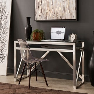 Copper Grove Valkeakoski Brushed Nickel Sofa Table