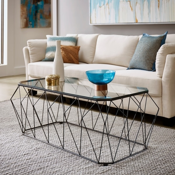 Modern Black Coffee Table For Sale: Shop Stedal Black Coffee Table Or Table Set With Glass