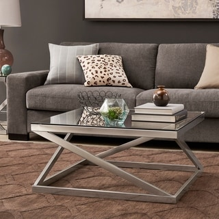 Copper Grove Valkeakoski Brushed Nickel Coffee Table