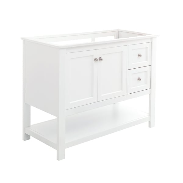"""Fresca Manchester 40"""" White Traditional Bathroom Cabinet"""