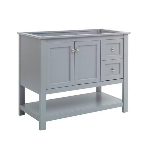 "Fresca Manchester 40"" Gray Traditional Bathroom Cabinet"