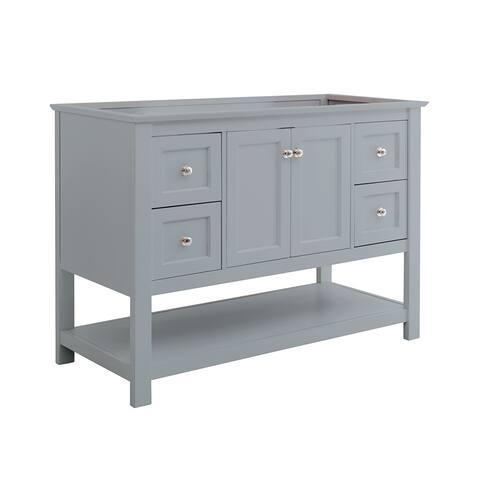 "Fresca Manchester 48"" Gray Traditional Bathroom Cabinet"
