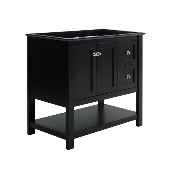 "Fresca Manchester 36"" Black Traditional Bathroom Cabinet"