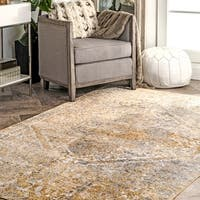 Porch & Den Oregon Floral Vintage Medallion Area Rug