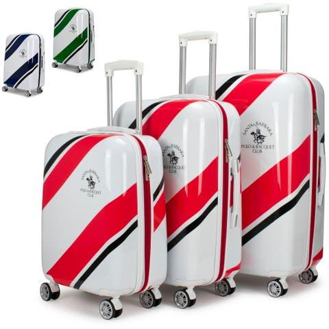 8c842bcf86 Santa Barbara Polo Racquet Club Ribbon Collection 3 Piece Luggage Set