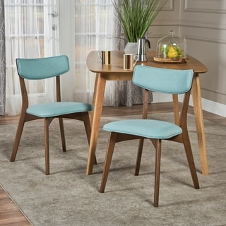 Abrielle Mid-Century Modern Fabric Dining Chair by Christopher Knight Home - N/A
