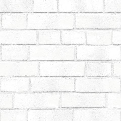 Brick White Peel and Stick Wallpaper