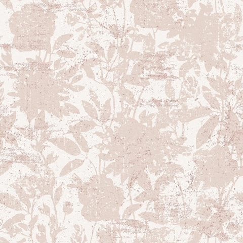 Garden Floral Dusted Pink Peel and Stick Wallpaper