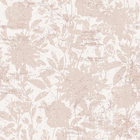 CosmoLiving Garden Floral Dusted Pink Peel and Stick Wallpaper