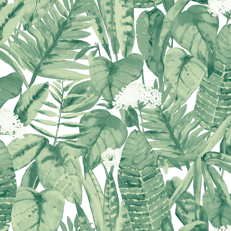 Tropical Jungle Green Peel And Stick Wallpaper