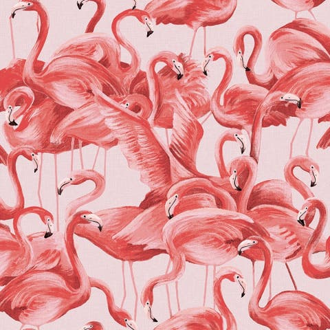 Flamingo Cheeky Pink Peel and Stick Wallpaper